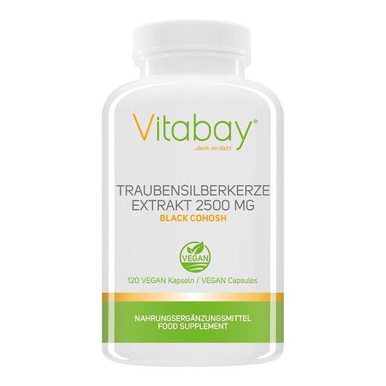 Traubensilberkerze Extrakt 2500 mg - 120 vegane Kapseln - Black .