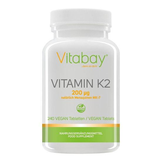 Vitamin K2 200 µg - 240 Vegane Tabletten