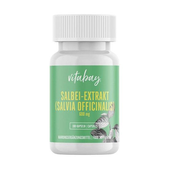 Salbei Extrakt - Sage Leaf - 600 mg - mit Thujon, Campher und Fl.