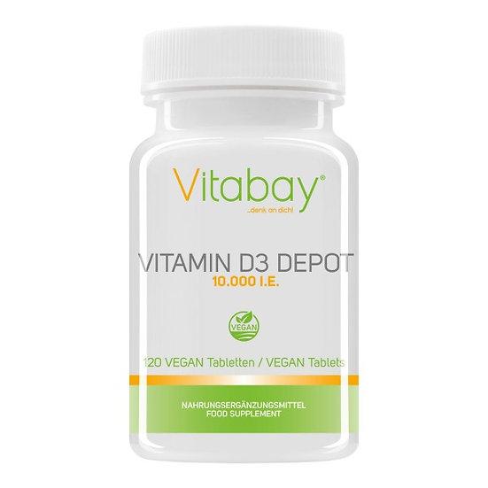 Vitamin D3 Depot 10.000 I.E. - 120 vegane Tabletten