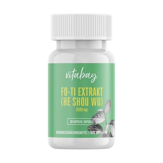 Fo-Ti Extrakt (He Shou Wu) - 3500 mg - 90 Vegi Kapseln