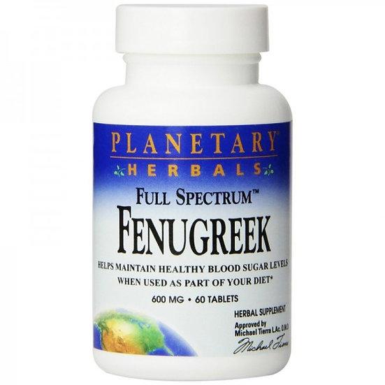 Fenugreek Full Spectrum - 600 mg - 60 Tab.