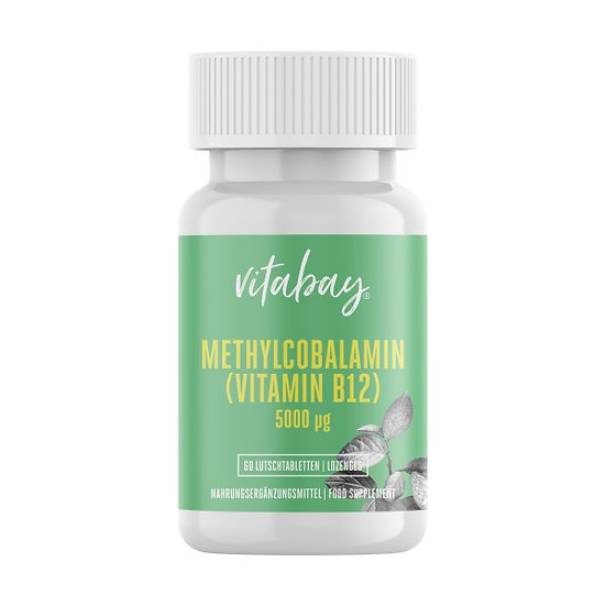 Methylcobalamin - 5000 mcg - Vitamin B12 - 60 vegane Lutschtable.