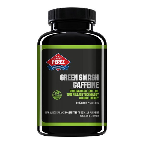 Green Smash Koffein - 200 mg - 8 Stunden zeitverzögerte Abgabe -.