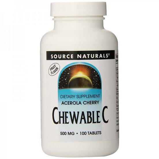Acerola Kirsche mit pflanzlichem Vitamin C - 500 mg - 100 Kau-un.