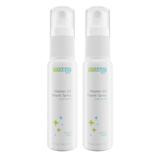 Vitamin D3 Spray 5.000 IE Depot - alle 5 Tage (2 x 30 ml)