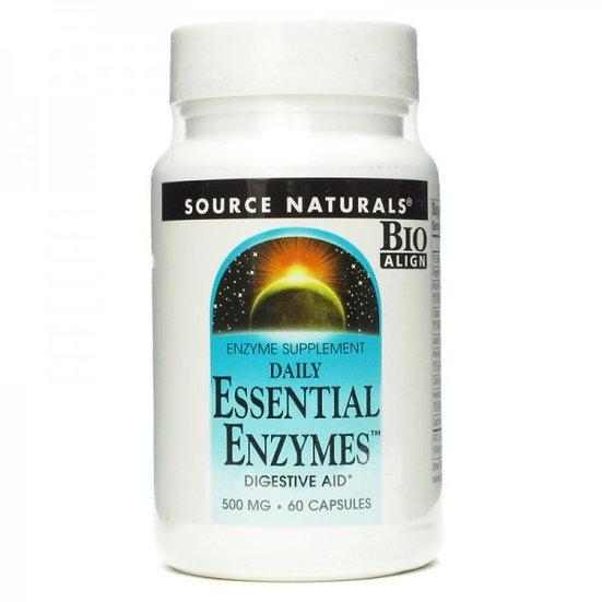 Essential Enzymes - 500 mg - starker Enzymkomplex- 60 Kapseln
