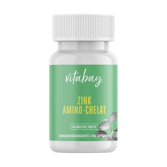 Zink Amino-Chelat 120 Portionen mit 15 mg Zink pro halbe Tablett.