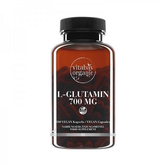L-Glutamin 700 mg, freie Form, bioverfügbar, 180 Vegane Kapseln