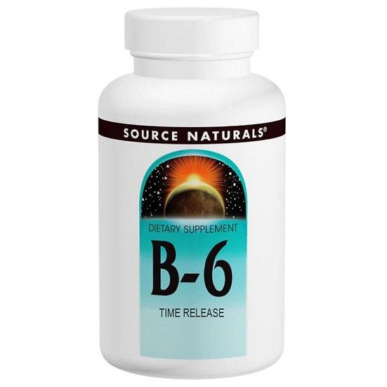 Vitamin B6 - 500 mg - zeitverzögerte Abgabe - 100 Vegane Tablett.