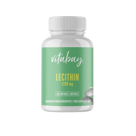 Lecithin 1.200 mg - 120 Vegan-Softgels - ohne Gentechnik - Vegan.
