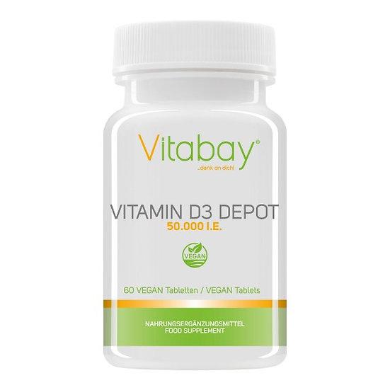 Vitamin D3 Depot 50.000 I.E. - Vegane Tabletten 120 vegane Tabletten