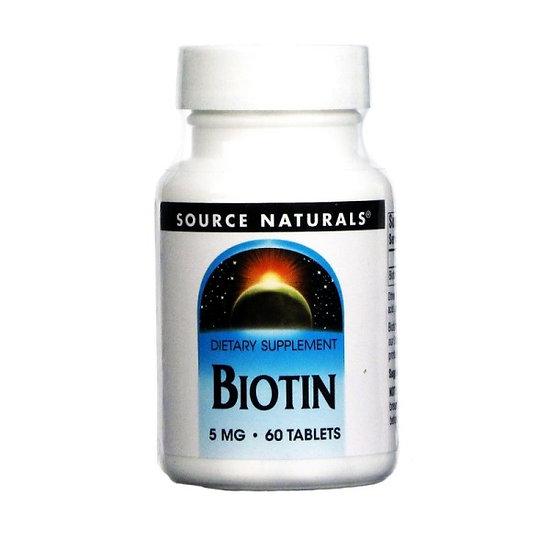 Biotin - 5.000 mcg (5 mg) - 60 Tabletten