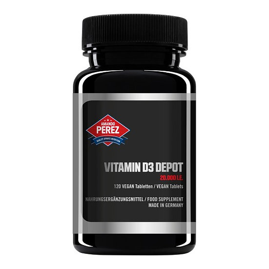 Vitamin D3 Depot 20.000 I.E. Nur eine Vegan Tablette / 20 Tage -.