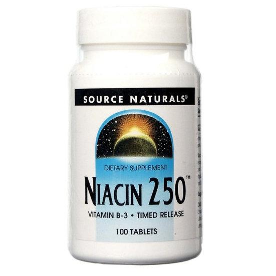Niacin B 3 - Time Release - 250 mg - 100 Tabletten