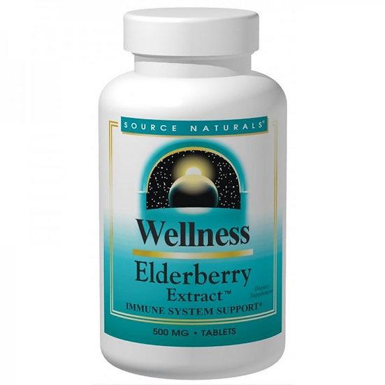 Elderberry - Schwarzer Holunder Extrakt - 500 mg - 30 Tabletten