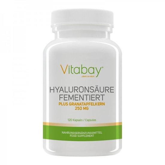 Hyaluronsäure 50 mg fermentiert mit Granatapfelkern 250 mg 240 Kapseln
