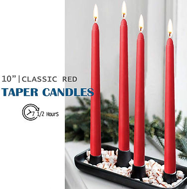 Red Taper Candles 10 Inches Tall