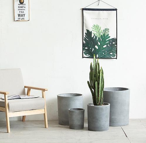 Cement planter cylinder