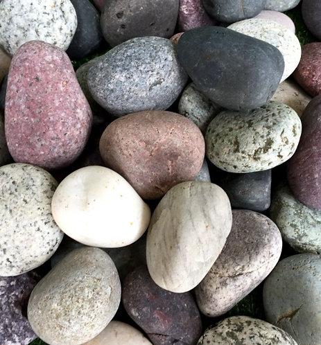 Mixed beach pebbles