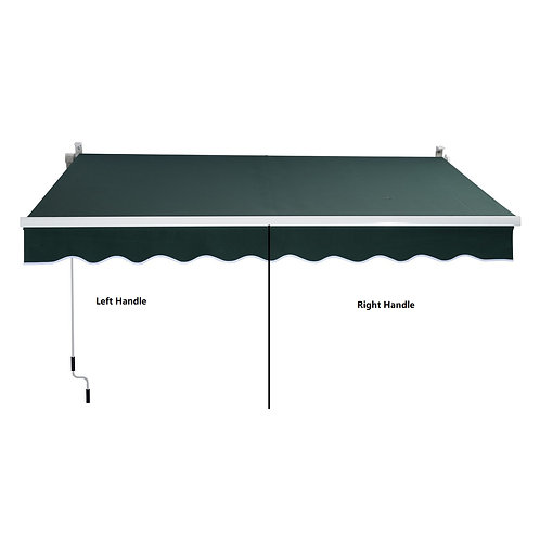 Manual Retractable Awning Spanish Fabric