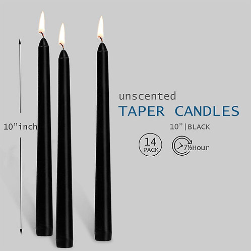 Black Taper Candles 10 Inches Tall