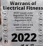 warrant of electrical fitness