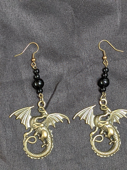 Bronze Dragons Earrings