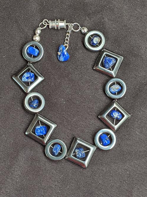 Hematite Sodalite Geometry Bracelet
