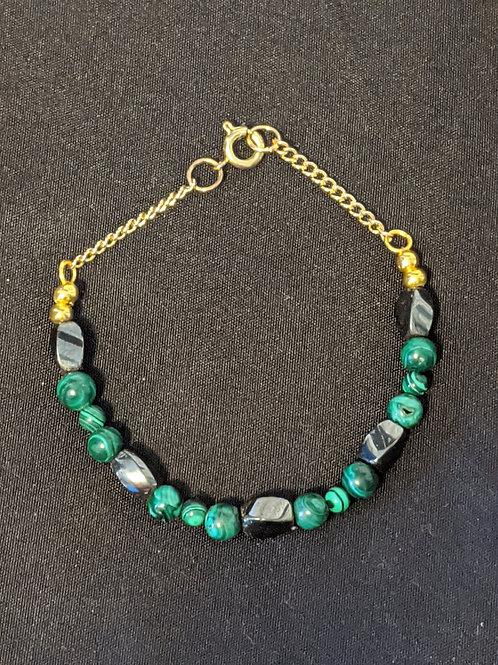 Hematite Malachite Bracelet