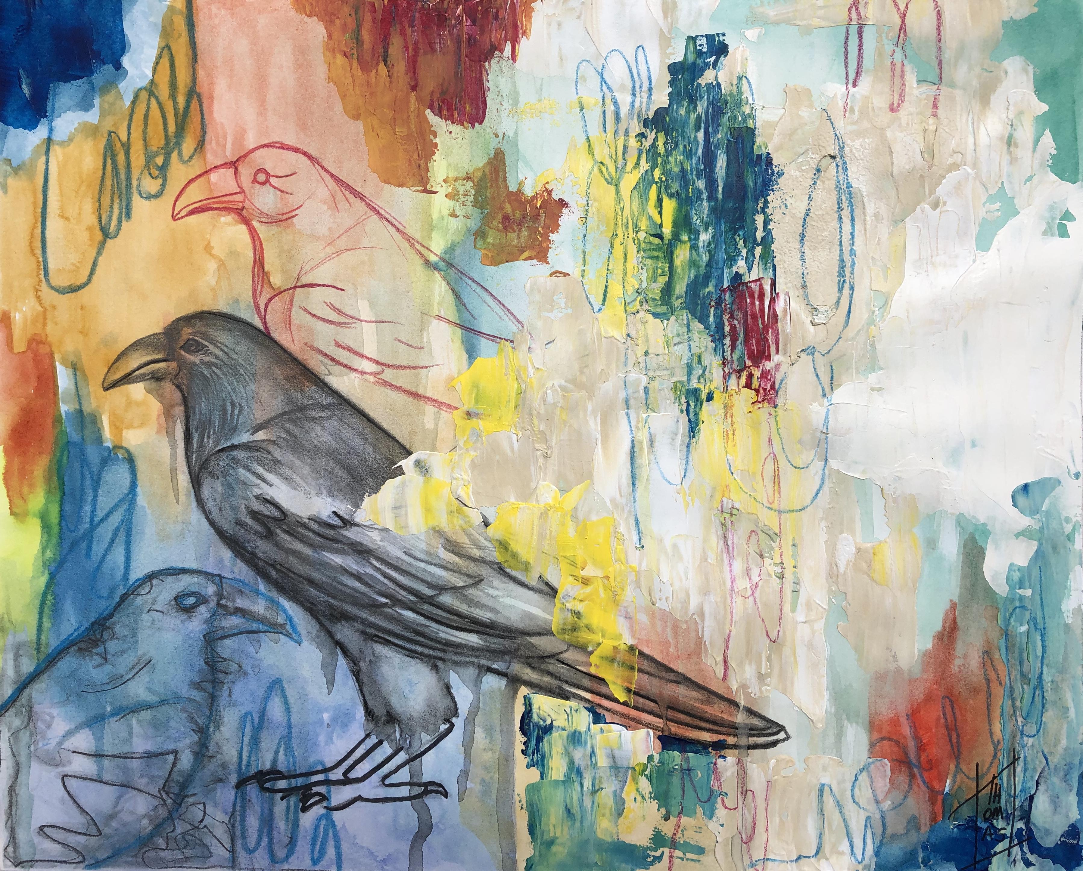 Les trois corbeaux (14X17)