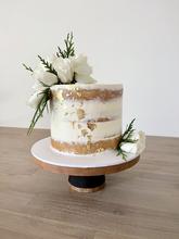 White semi caked