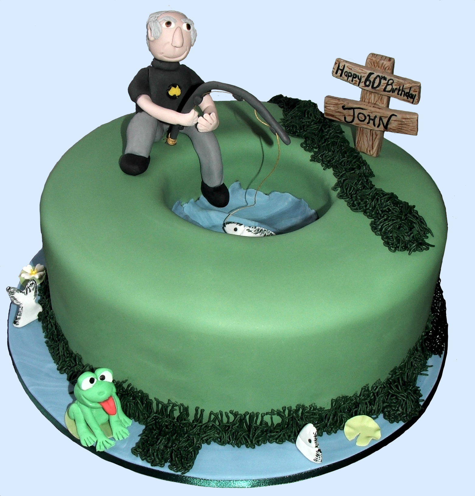 60th Fishing Cake