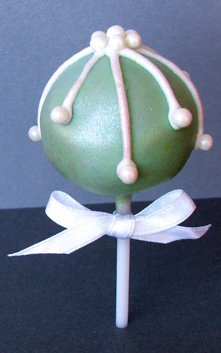 Green Bauble Cake Pop
