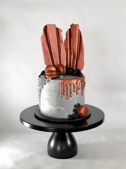 Bronze Concrete Cake