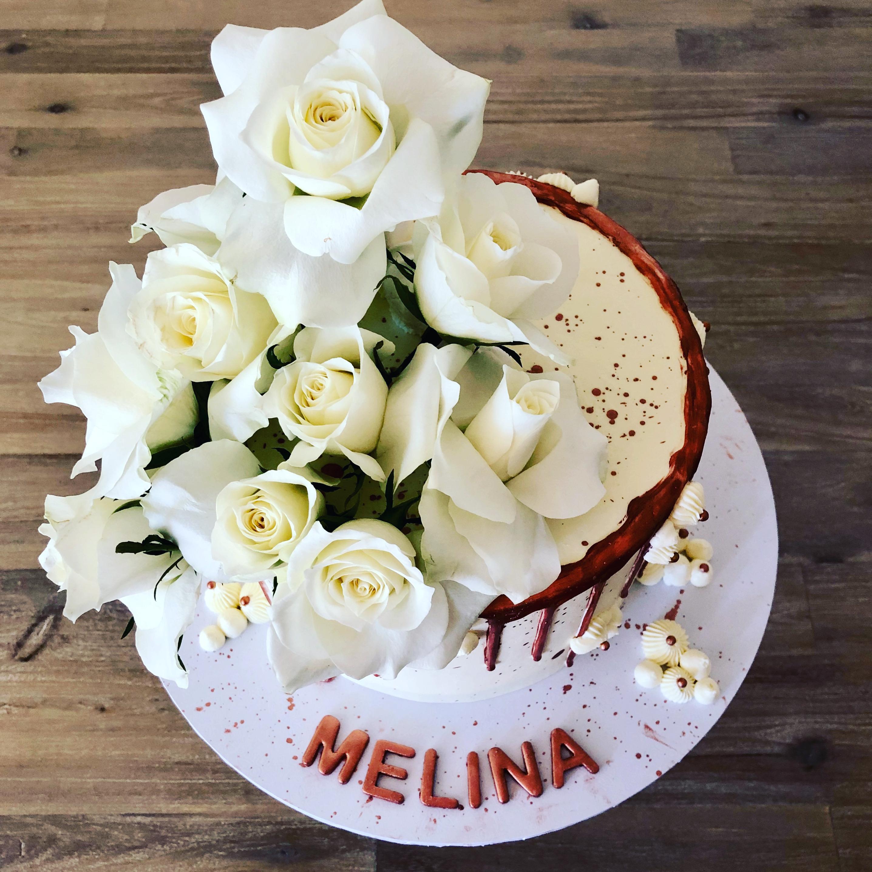 White Rose Cake.