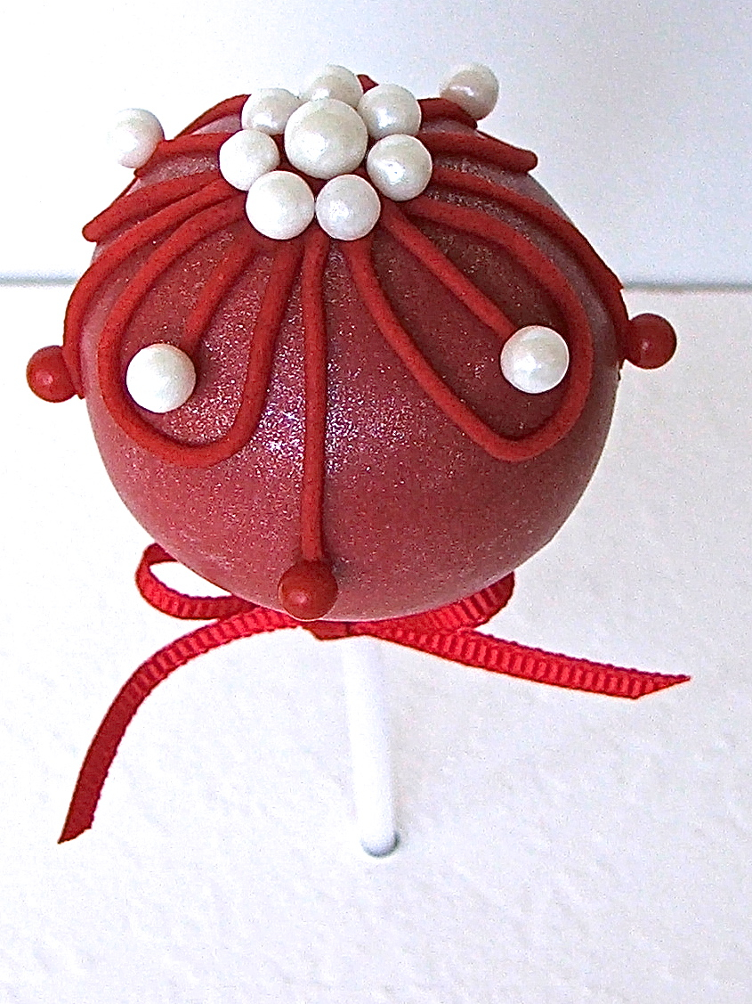 Red Bauble Cake Pop
