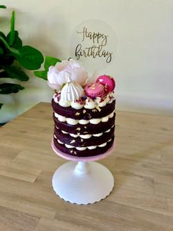 Naked Pink Cake
