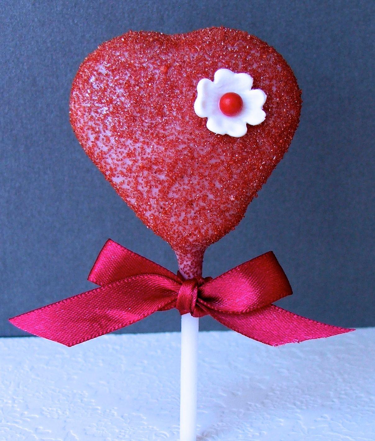 Red Heart Cake Pop