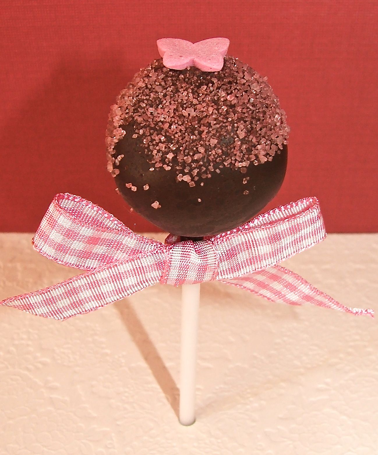 Pink Butterfly Cake Pop