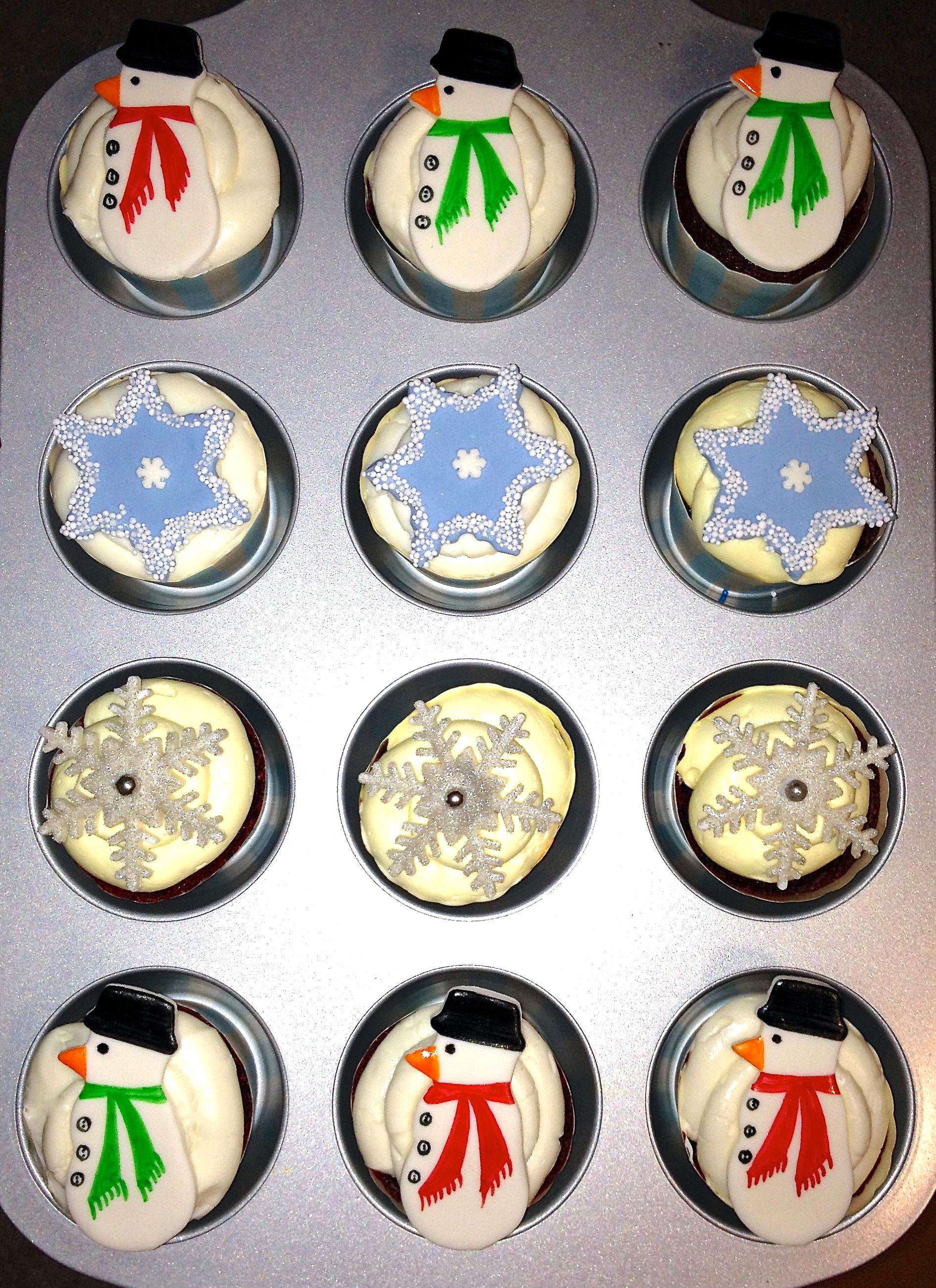 Christmas Buttercream Cupcakes