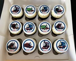 Thomas Train Cupcakes