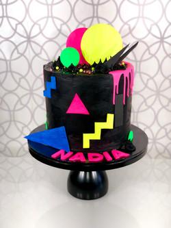 80's Style Fluoro Cake