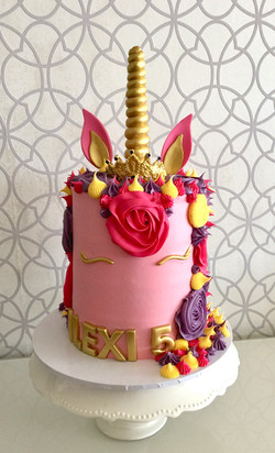 Pink Princess Unicorn Cake