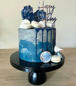 Blue & Grey Cake