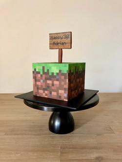 Minecraft Cake.