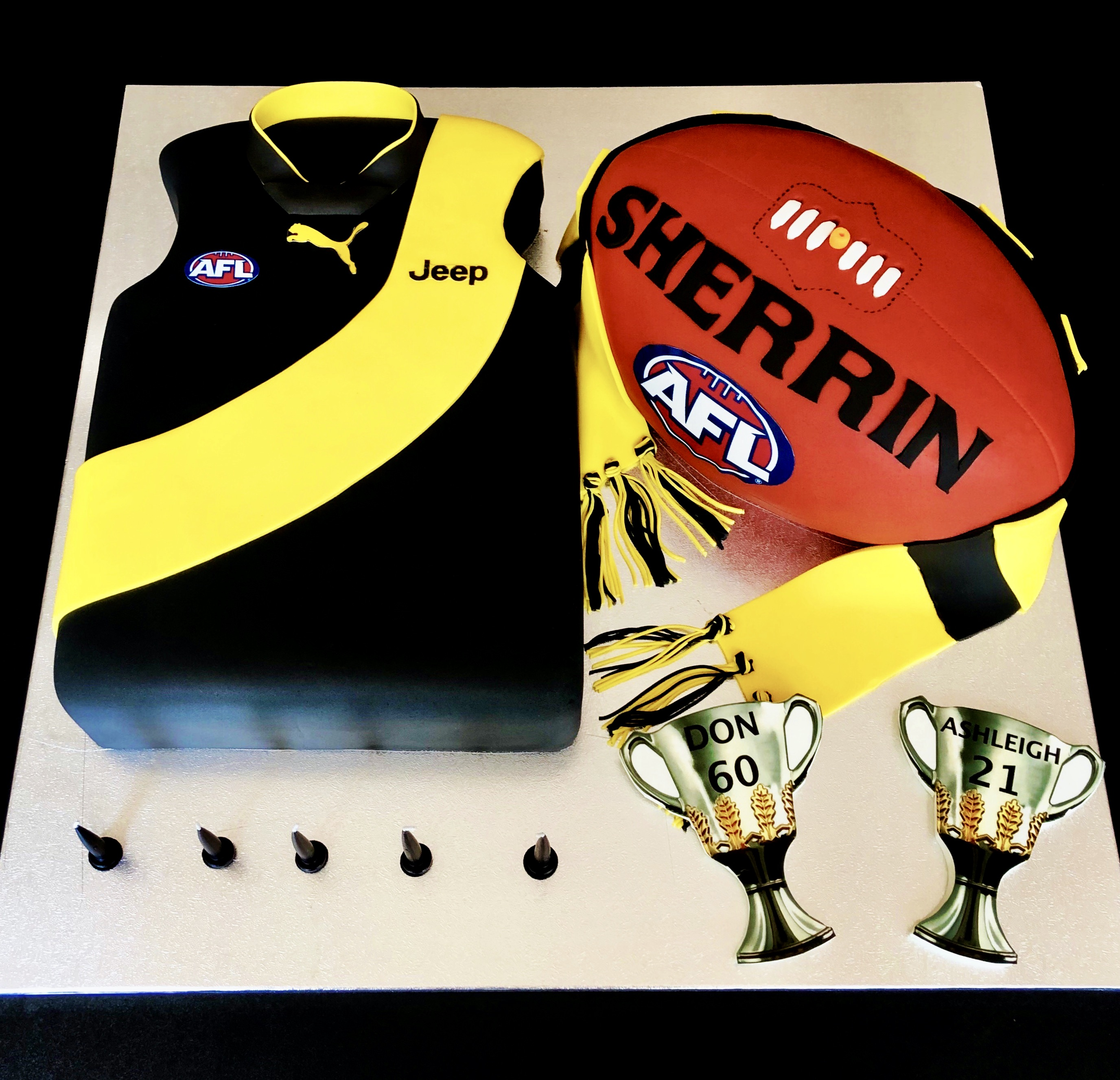 AFL Richmond Cake