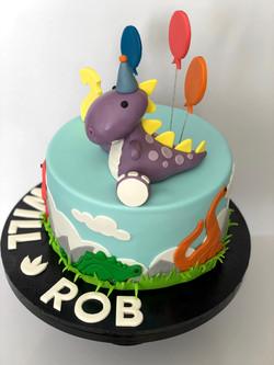 Dinosaur Cake Side View