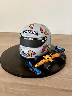 Racing Helmet & McLaren