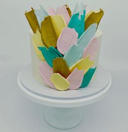 Chocolate Paint Stroke Cake